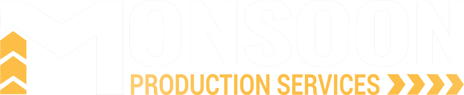 Monsoon Production Services Logo White with Gold